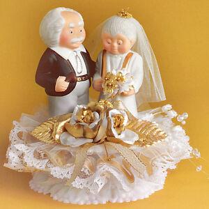 Tortendeko Hochzeit Brautpaar Zur Goldenen Hochzeit Oma Opa Ebay