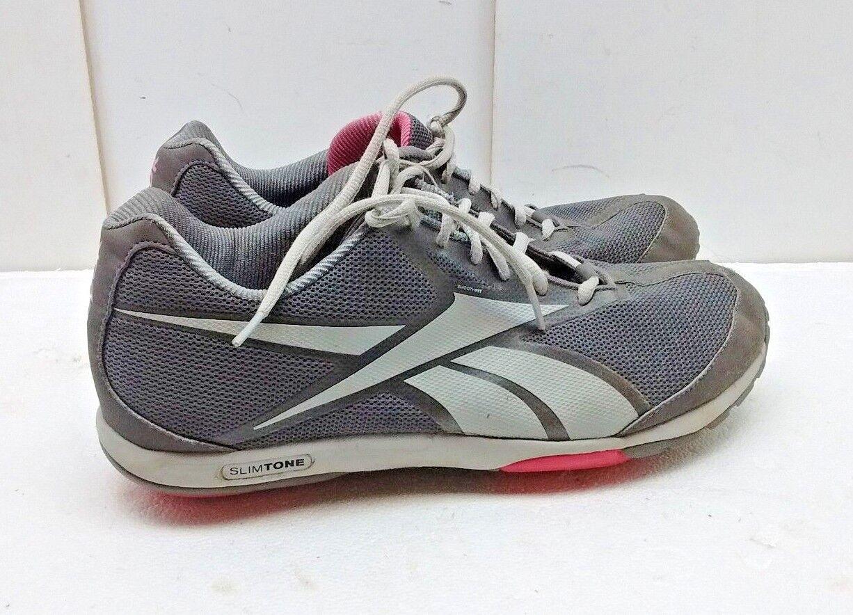 Reebok Runtone Mujer gris Plata Malla Athletic Tenis Calzado Con Con Con Cordones Talla 9 M 40  60% de descuento
