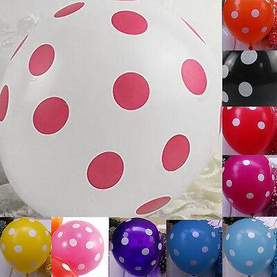 "10x 12"" Polka Dot Latex Balloon Celebration Birthday Wedding Party Home Decor Y5"