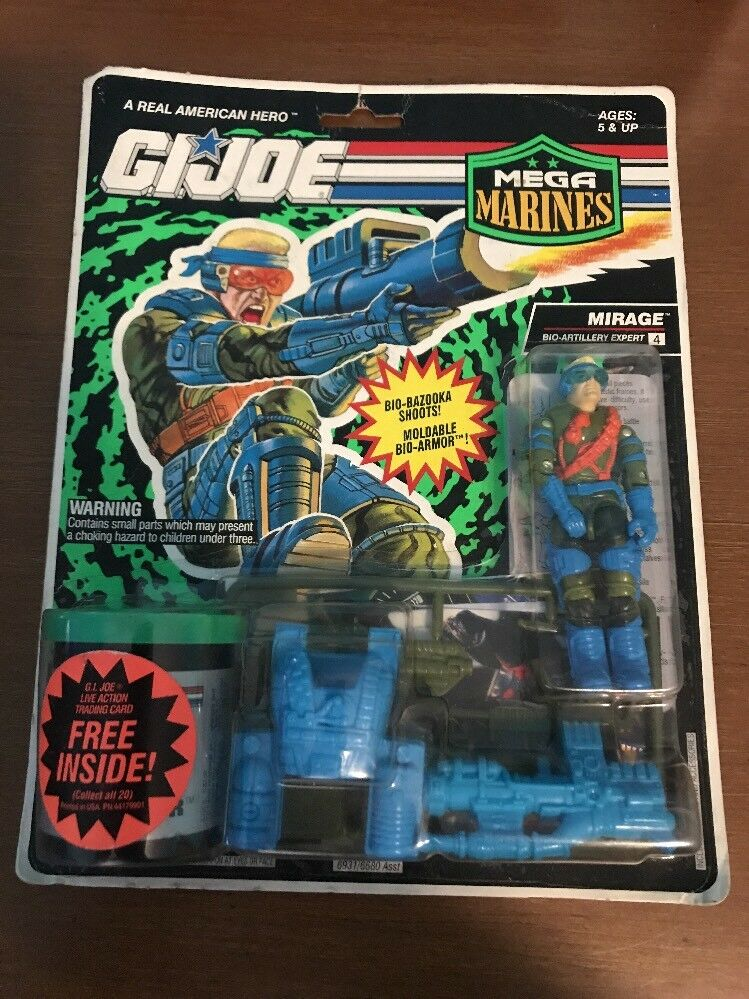 GI Joe Hasbro 1993 Mega Marines Bio-Armor Mirage Action Figure