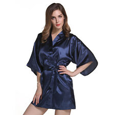 11464791d0 item 2 Women Short long Wedding Bride Bridesmaid Satin Silk Robe Floral  Bathrobe Kimono -Women Short long Wedding Bride Bridesmaid Satin Silk Robe  Floral ...