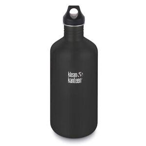 KLEAN KANTEEN CLASSIC 64oz 1900ml BPA FREE WATER BOTTLE - SHALE BLACK