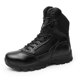 4be198aa6da Mens Army Tactical Lace Up Combat Military Mid Top Ankle Boots ...