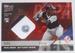 2018 MIGUEL ANDUJAR TOPPS NOW GAME USED YANKS PLAYERS WEEKEND JERSEY ... ddc587d2f5c