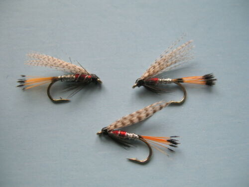 sizes 8,10,12,14 available 3 x PETER ROSS WET FLY FISHING TROUT FLIES