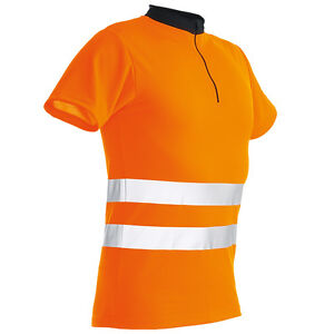Pfanner Zipp-neck Shirt Orange En 471 Kurzarm T-shirt Hemd Funktionsshirt Forst NüTzlich FüR äTherisches Medulla Business & Industrie