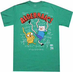 76bec3a401c Adventure Time With Finn And Jake Algebraic Adult T-Shirt - Cartoon ...