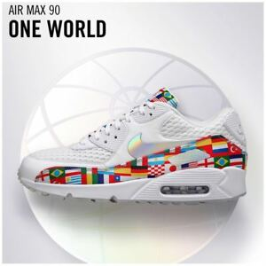 799e7c18d5 Nike Air Max 90 NIC International Flag Men's White Multi WORLD CUP ...