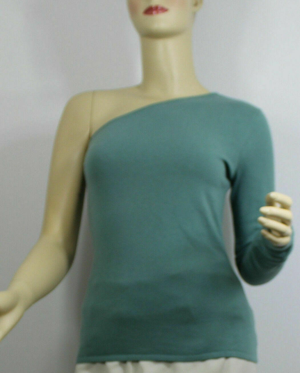 Ralph Lauren schwarz Label Cashmere damen Shirt Large Grün One Shoulder