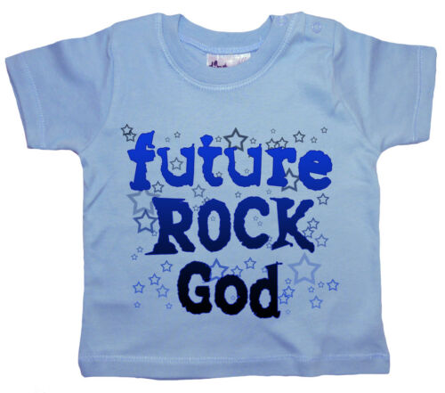 "Baby Rock T-Shirt /""Future Rock God/"" Boy/'s Metal Alternative Rock Music Tee"