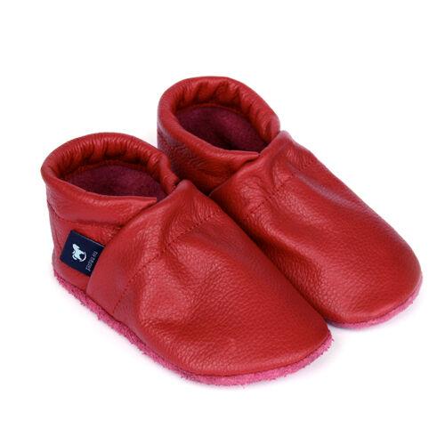 Pantau Leder Krabbelschuhe Lederpuschen Babyschuhe Lauflernschuhe Unifarben