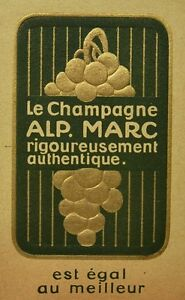 Chromo Advertising Champagne Alp.marc Paper Corrugated Brush Cutter... Twentieth
