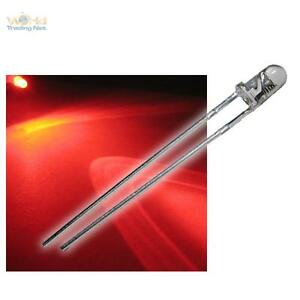 10-LEDs-3mm-clignotant-rouge-clair-flasher-alarme-Factice-zub