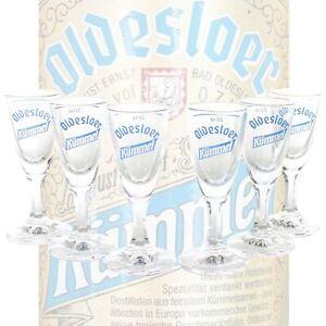 6x-OLDESLOER-Kuemmel-Glaeser-Set-Shot-Glas-Likoer-geeicht-Stamper-Bar-mn887-1235
