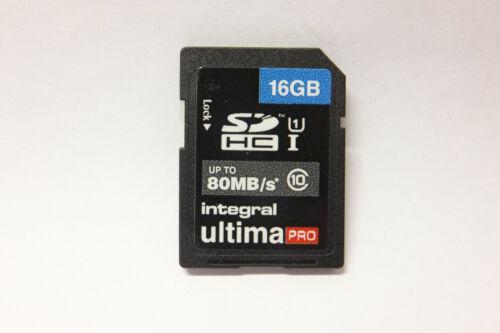 5x integral ultima pro 16gb SDHC 80mb//s tarjeta de memoria Memory Card 16 gb 5 unid.