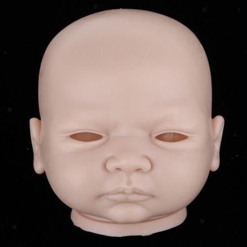 20inch Reborn Head Sculpt Newborn Awake Baby Doll Head Mold Unpainted #h