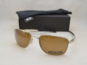 3122be105ac Oakley GAUGE 8 (OO4124-09 57) Polished Chrome with Prizm Tungsten ...