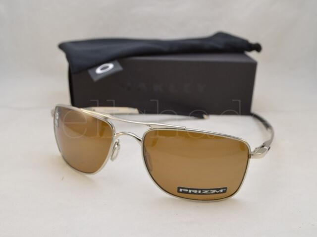 fd53fe6598 Oakley Gauge 8 M Polished Chrome Prizm Tungsten Polarized Sunglasses Oo4124  0957