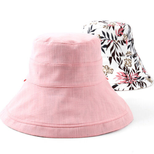 Women/'s Anti-UV Wide Brim Summer Beach Double Side Bucket Sun Protective Hat  ux