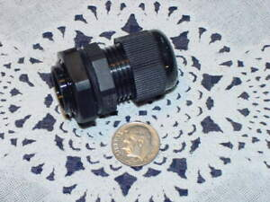 "10 Pack 1//2/"" Black Nylon Cable Glands Strain Relief WIth Gasket and Lock-Nut"