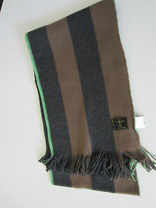 Paul-Smith-Jeans-Grey-Brown-Striped-scarf-100-Cotton