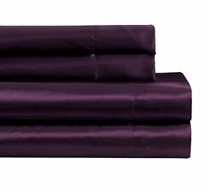 Fancy-Linen-Soft-Silky-Satin-Solid-Purple-Deep-Pocket-Bridal-Sheet-Set-All-Sizes
