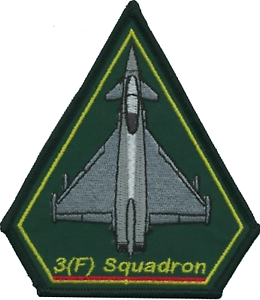 No. 3 (F) Squadron RAF Eurofighter Typhoon Spearhead Embroidered Patch