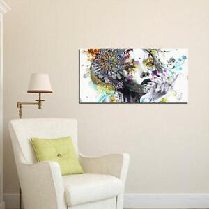 Frameless-Hand-painted-Abstract-Canvas-Oil-Painting-Girl-Wall-Art-Decor-D