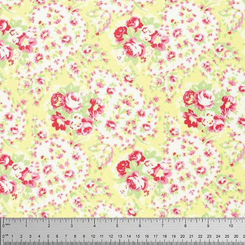 Tanya Whelan Lola Paisley Fabric in Yellow PWTW109 100/% Cotton