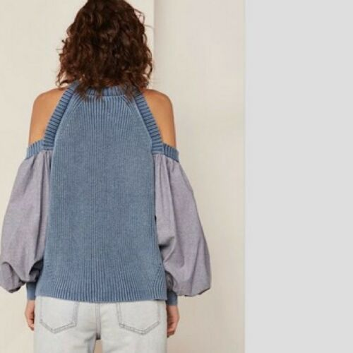 Top Détail Sz Swimpse 148 Blue m A Medium Free People Catch Sweater Fp Nwt vxqwYT1Hq