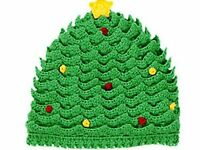 Gymboree Christmas Tree Infant Knit Hat Size 3-6 Months