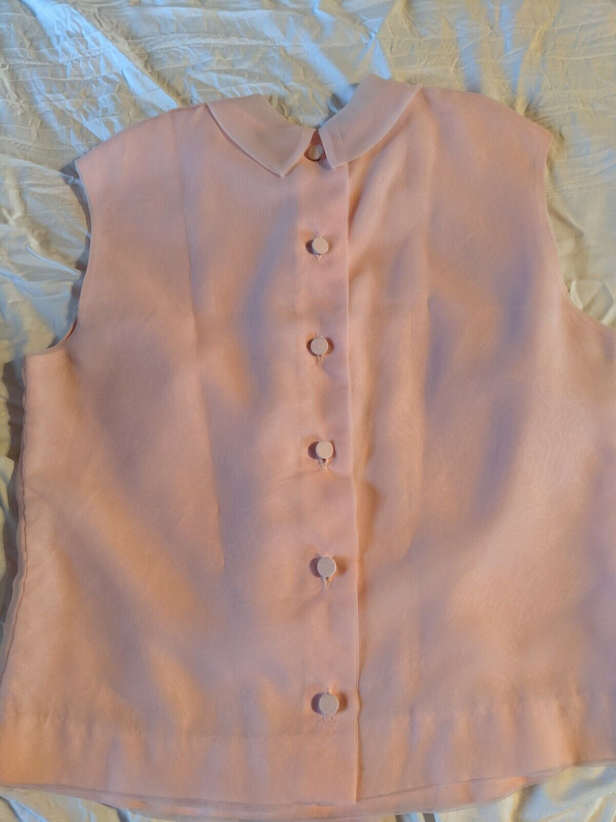 VTG Morlove the Couturier Pink Blouse With Neckti… - image 3