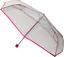 Soake Ombrello Pieghevole a Cupola trasparente con finiture rosa Unisex Donne Ragazze in fibra di vetro