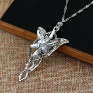 Lord of the rings arwens necklace arwen evenstar pendant crystal image is loading lord of the rings arwen 039 s necklace aloadofball Choice Image