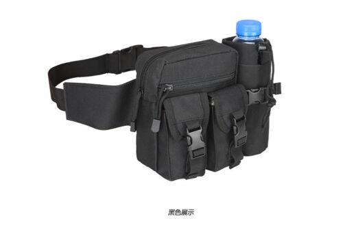 Tactical Fanny Pack Military Waist Bag W Water Bottle Pocket Holder Hip Belt Bag