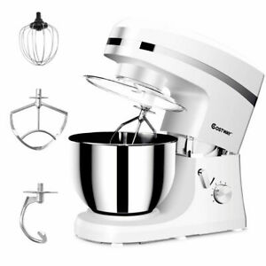 New-Electric-Food-Stand-Mixer-6-Speed-5-3Qt-800W-Tilt-Head-Stainless-Steel-Bowl