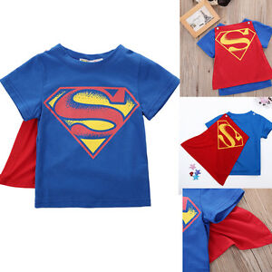 Baby kids boys cartoons superhero cosplay superman t Boys superhero t shirts