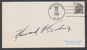 Howard H. Baker, Jr. US Senator from Tennessee, signed 1968 Cover