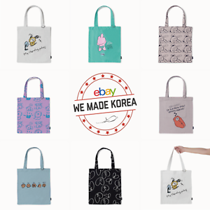 BT21-Drawing-Eco-Bag-Reusable-Tote-Shoulder-Bag-7types-Authentic-K-POP-Goods
