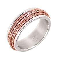 PETRAI Ring, 925 Sterling Silber, Gr. 56 / 17,8 mm, Bicolor, NEU mit OVP, PR31