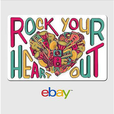 eBay Digital Gift Card Music Rock Your Heart Out - Email Delivery