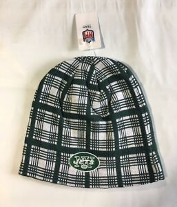 ff275229 Details about New York Jets Knit Beanie Winter Hat Toque Skull Cap NEW  Green White PLAID