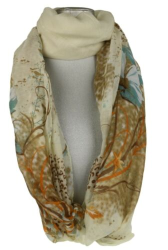 Womens Flowers Leopard Print Scarf Floral Animal Tiger Paisley Shawl Fashion