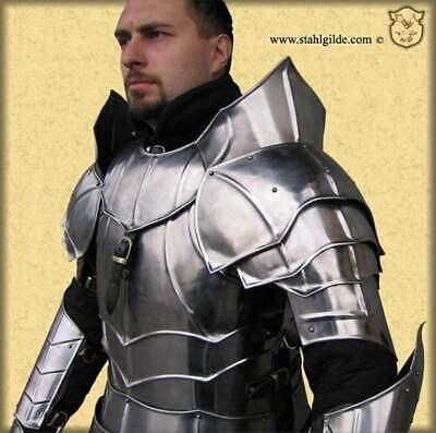 pauldrons Guardian: a pair Larp medieval shoulders fantasy