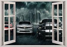 MUSCLE CARS FORD MUSTANG GT COBRA WINDOW WALL STICKER LOUNGE BEDROOM GIRLS BOYS