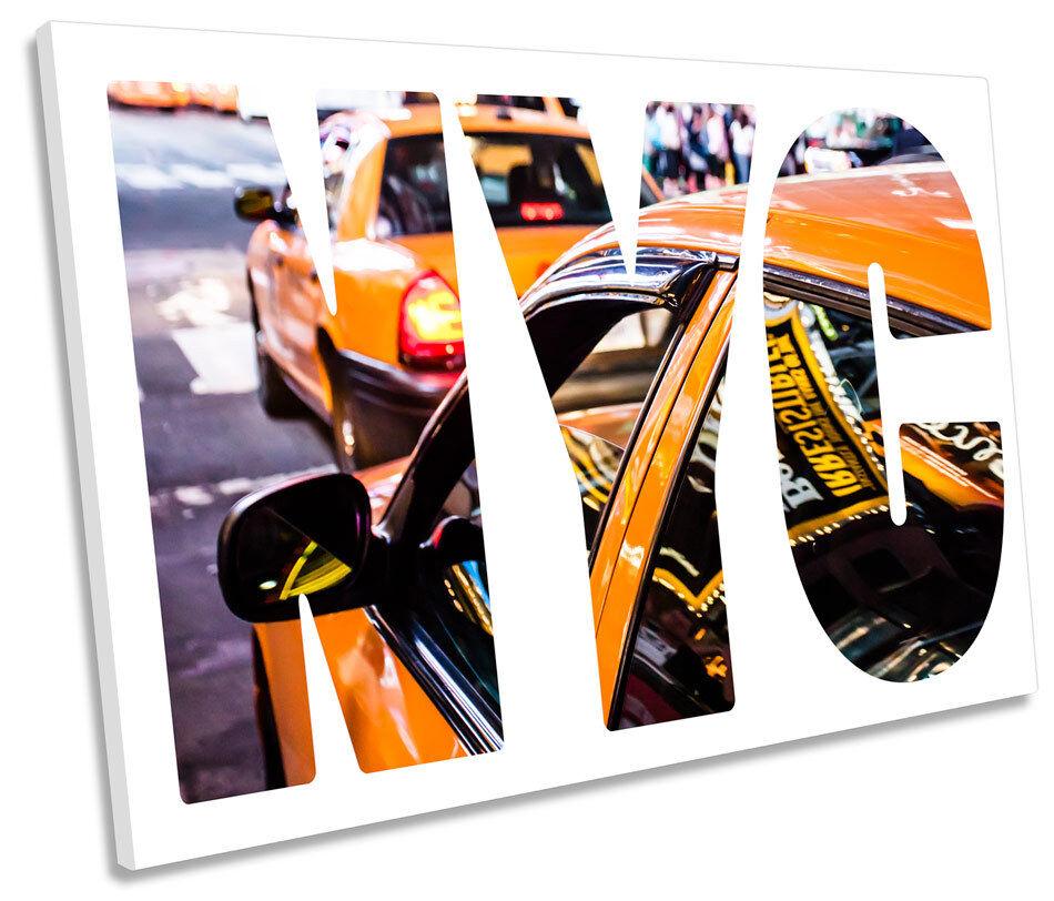 NYC New York City SINGLE CANVAS WALL ART Framed Print