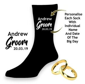 Men-039-s-Wedding-Socks-Best-Man-Brother-of-Groom-Usher-Father-of-Bride-PERSONALISED