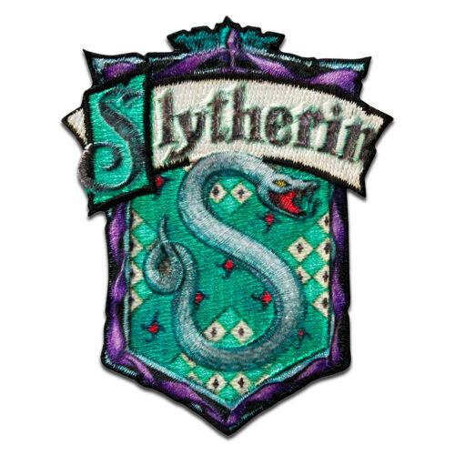 Patches Harry Potter © Slytherin Wappen Aufnäher Bügelbild //Aufbügler A