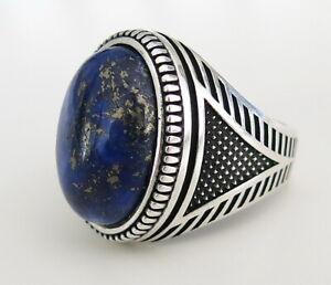 bague homme lapis lazuli
