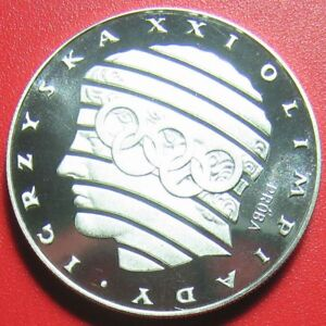 1976-POLAND-200-ZLOTYCH-034-PROBA-034-SILVER-PROOF-STYLIZED-HEAD-RINGS-M-6-060-COINS